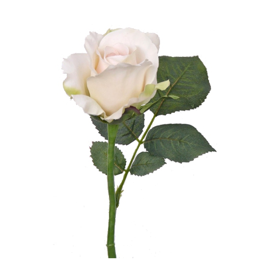 Nep kunstbloem roos wit 30 cm