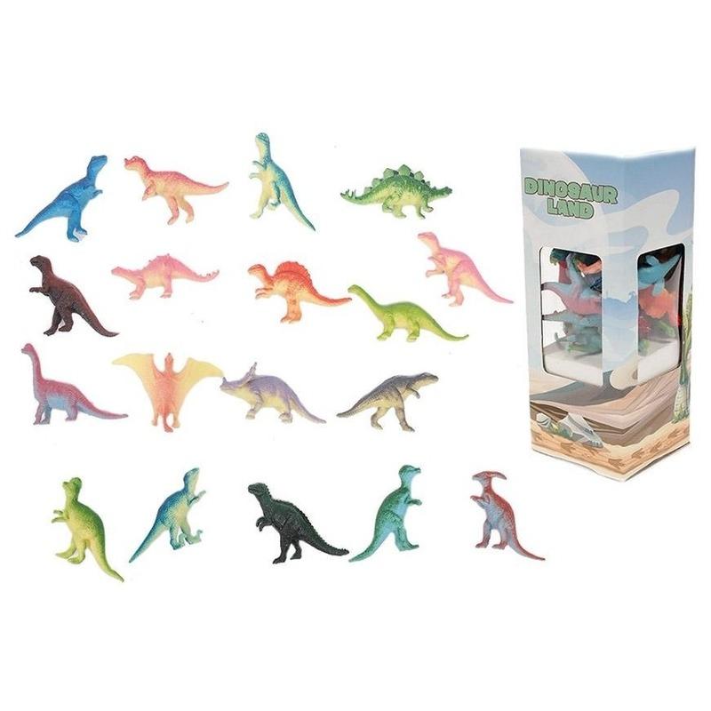 Plastic speelgoed dinosaurussen 18 stuks - Action products