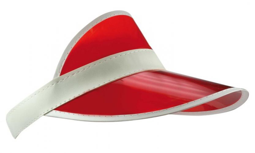 88ff60388506b4 Zonnepet transparant rood wit - Primodo warenhuis