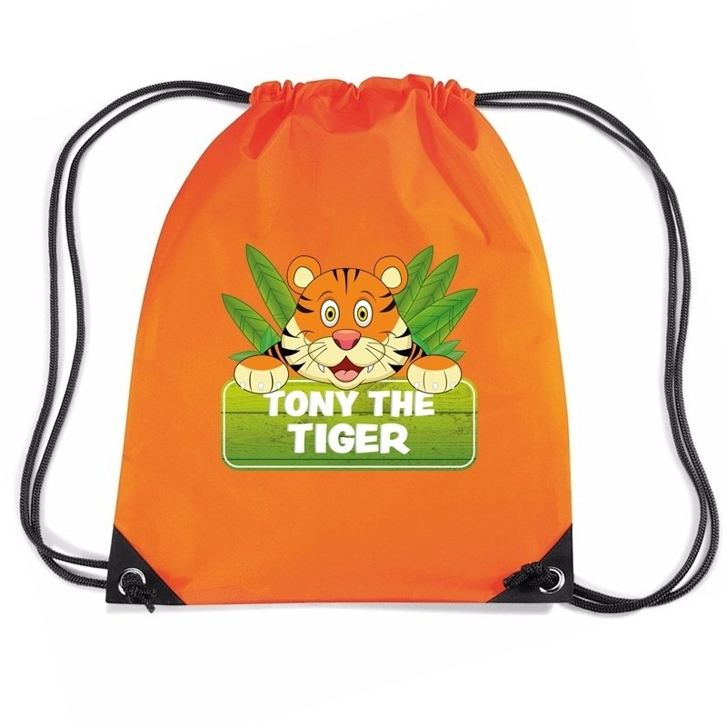 50895ac7025 Tony the tiger tijger rugtas / gymtas oranje voor kinderen. dit oranje  rugzakje is bedrukt