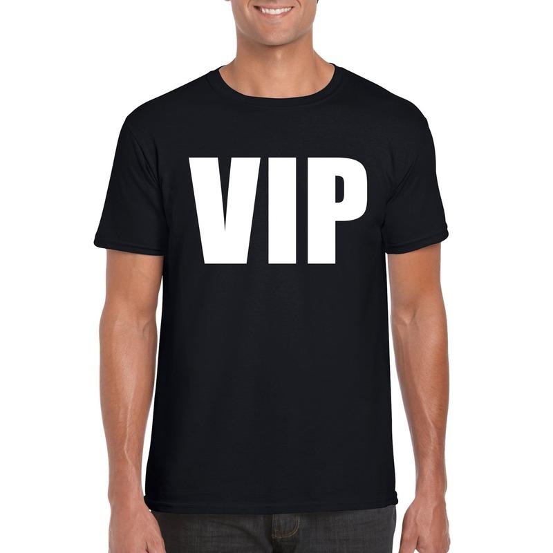 VIP tekst t-shirt zwart heren